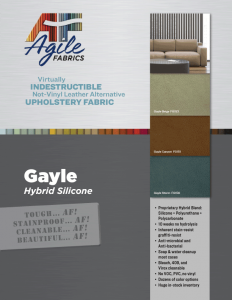 Agile Fabrics Gayle Hybrid Silicone Brochure and Specifications
