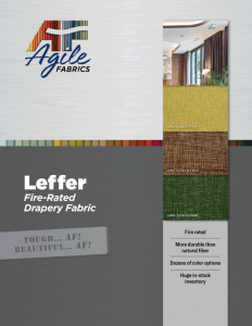 Agile Fabrics Leffer Drapery Brochure and Specifications