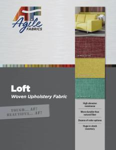 Agile Fabrics Loft Brochure and Specifications