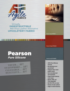 Agile Fabrics Pearson Brochure and Specifications